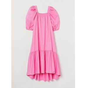 H&M pink puff sleeve dress